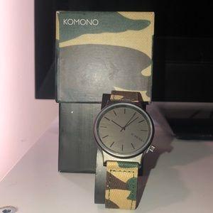 Camoflauge Komono Watch